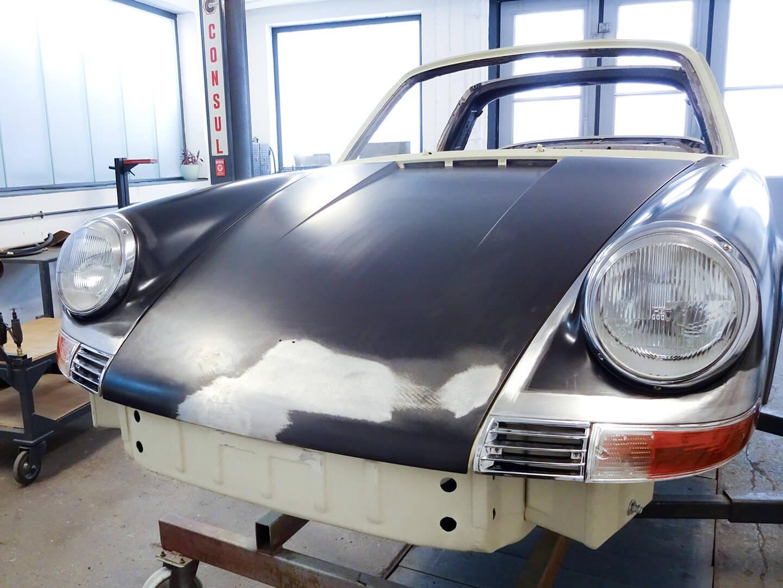 Karosserie-Restauration Porsche 911 Targa S (1963), Front und Kotflügel